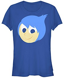 Disney Pixar Women's Inside Out Joy Face Halloween Short Sleeve Tee Shirt