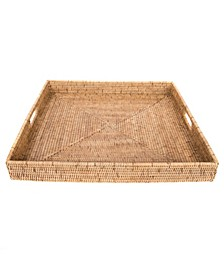 Rattan Square Ottoman Tray Collection