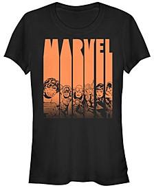 Marvel Women's Avengers Halloween Logo Character Stencil Short Sleeve Tee Shirt