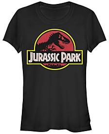 Jurassic Park Women's Classic Original Logo Short Sleeve Tee Shirt