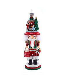 17.5-Inch Hollywood™ Stockings on Fireplace Nutcracker