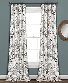 "Botanical Garden Floral 52"" x 95"" Curtain Set"