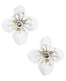 INC Gold-Tone Crystal Flower Stud Earrings, Created For Macy's
