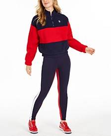 Laverne Colorblocked Quarter-Zip Sweatshirt