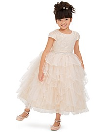 Little Girls Embroidered Lace Fairy Gown