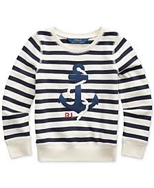 Little Girls Anchor Terry Sweatshirt