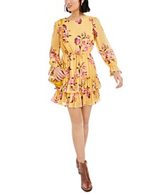 Printed Ruffled Mini Dress, Created For Macy's