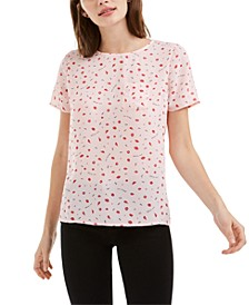 Printed Button-Up Back Top, Created for Macy's