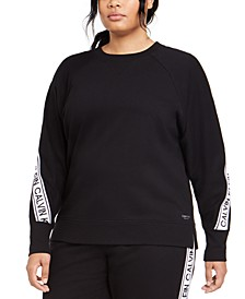 Plus Size Active Logo-Tape Sweatshirt