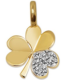 Diamond Mini Shamrock Charm Pendant (1/20 ct. t.w.) in 14k Gold