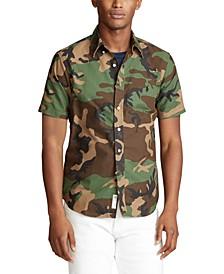 Men's Classic Fit Short Sleeve Camo Shirt