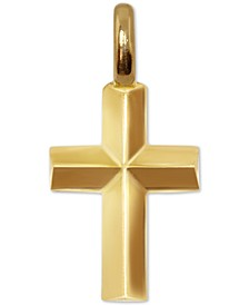 Mini Cross Charm Pendant in 14k Gold