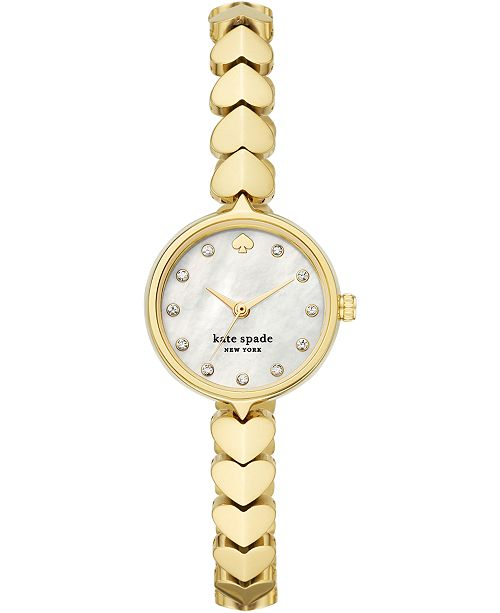 kate spade new york Women's Hollis Gold-Tone Stainless Steel Bracelet Watch 24mm
