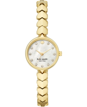 Kate Spade Lingerie NEW YORK WOMEN'S HOLLIS GOLD-TONE STAINLESS STEEL BRACELET WATCH 24MM