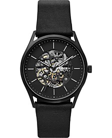Men's Automatic Holst Black Leather Strap Watch 40mm, A Limited Edition