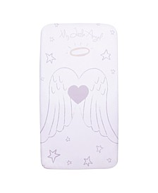 Angel Wings Flannel Photo Op Crib Sheet