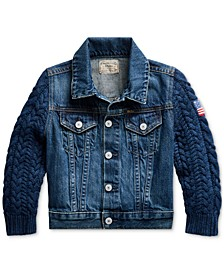 Toddler Girls Hybrid Denim Trucker Jacket