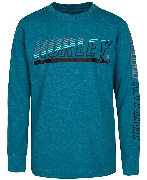Hurley Big Boys Cotton Logo-Print T-Shirt