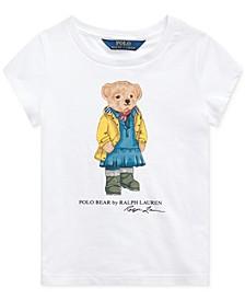 Toddler Girls Raincoat Bear Cotton T-Shirt