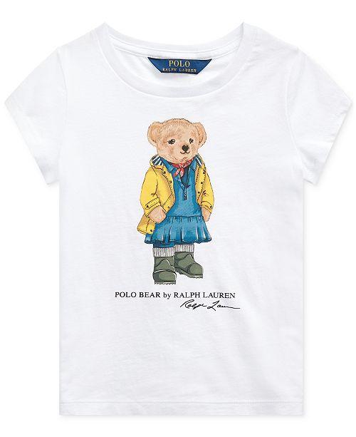 Polo Ralph Lauren Toddler Girls Raincoat Bear Cotton T-Shirt