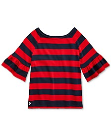Big Girls Ruffled Cotton Jersey Top
