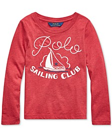 Little Girls Sailing Club Cotton Jersey T-Shirt