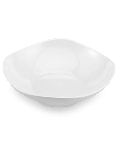 Mikasa Swirl Square White Pasta Bowl