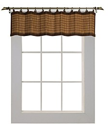 Home Fashions Bamboo Wood Ring Top Valence