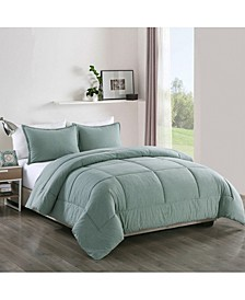 Washed Cotton Comforter Mini Set, King