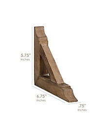 American Art Decor Rustic Wood Corbels Brackets Set of 2
