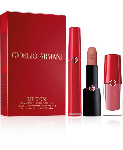 Giorgio Armani 3-Pc. Lip Icons Gift Set