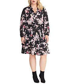 Trendy Plus Size Ally Floral-Print Dress