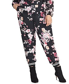 Trendy Plus Size Eden Floral-Print Pants
