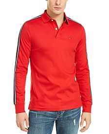 Men's Slim-Fit Tiley Sleeve Taped Long Sleeve Polo Shirt