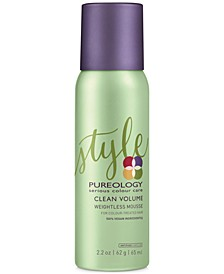 Clean Volume Weightless Mousse, 2.2-oz., from PUREBEAUTY Salon & Spa