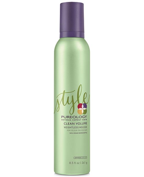 Pureology Clean Volume Weightless Mousse, 8.5-oz., from PUREBEAUTY Salon & Spa
