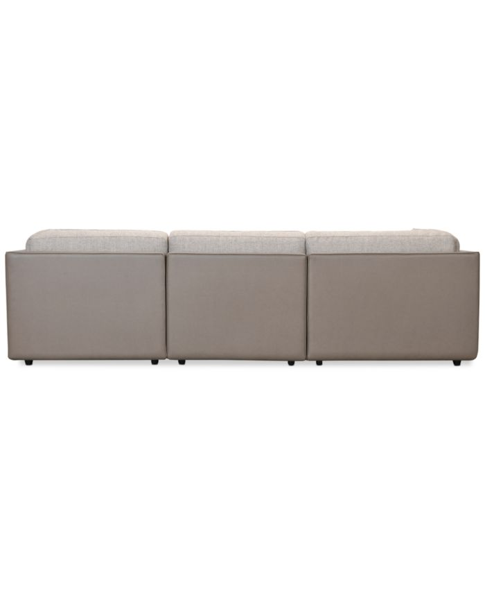 Furniture CLOSEOUT! Mattley 3-Pc. Fabric Sofa with Chaise, Created for Macy's & Reviews - Furniture - Macy's