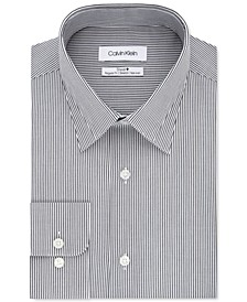 Men's Steel Classic/Regular-Fit Non-Iron Performance Stretch Stripe Dress Shirt