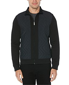 Men's Quilted Chevron Quarter-Zip Shirt