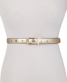 Snake-Embossed Reversible Belt