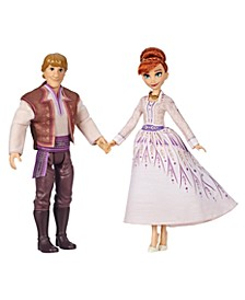 CLOSEOUT! Disney Anna and Kristoff Fashion Dolls 2-Pack, Outfits Featured in the Disney Frozen 2 Movie