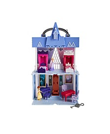 Disney 2 Movie Pop Adventures Arendelle Castle Playset With Handle, Including Elsa Doll, Anna Doll, and 7 Accessories