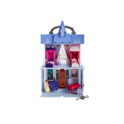Disney Frozen 2 Movie Pop Adventures Arendelle Castle Playset With Handle, Including Elsa Doll, Anna Doll, and 7 Accessories