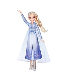 Disney Singing Elsa Fashion Doll with Music Wearing Blue Dress Inspired by Disney Frozen 2 Movie