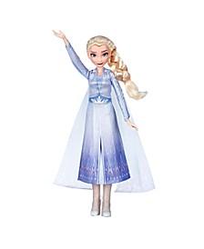 Disney Singing Elsa Fashion Doll with Music Wearing Blue Dress Inspired by Disney Frozen 2 Movie