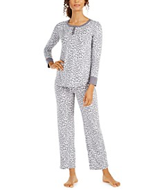 Animal-Print Pajamas Set