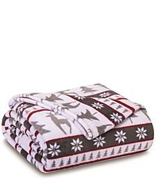 Winter Nights Plush Blanket, Full/Queen