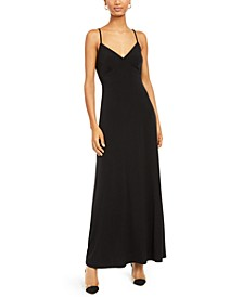 INC V-Neck Solid Maxi Dress, Created For Macy's