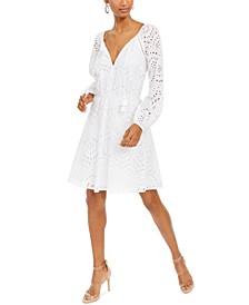 INC Cotton Keyhole Eyelet Dress, Created for Macy's