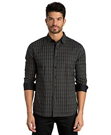 Stripe Print Long Sleeve Sport Shirt